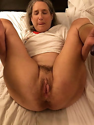 Desirable  experienced granny is revealing her holes