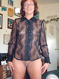 Lascivious older lasses are fingering themselves