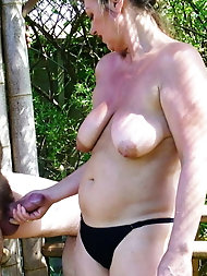 Selection of undressed grannies taking a cock in hand