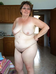 Mature Granny at Home Full Frontal -1