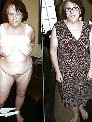 Grannies dressed and undressed