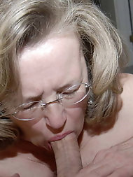 Sensuous experienced grandmama is spreading pussy
