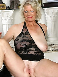 Hot mature mistress takes off provocative bra