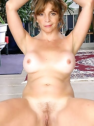 Grandma Teena undresses Off Her dress And spreads